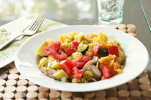 Simple Summer Pasta Salad (Vegan & Gluten Free)