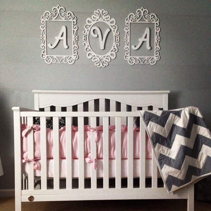 Love Ava's name above the crib!