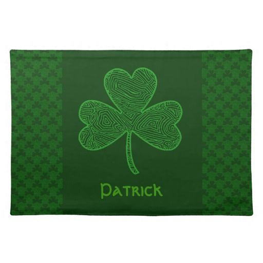 personalized shamrock cloth placemat for st patricks day st patrick 39 s day pinterest