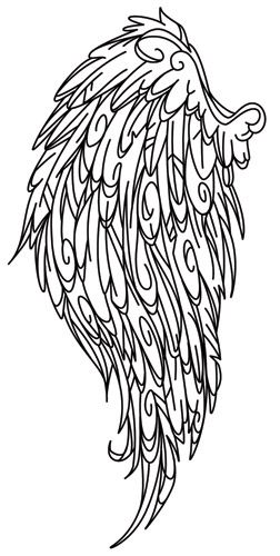 Stitch dazzling fashions with this bold wing design. Downloads as a PDF. Use pattern transfer paper to trace design for hand-stitching.