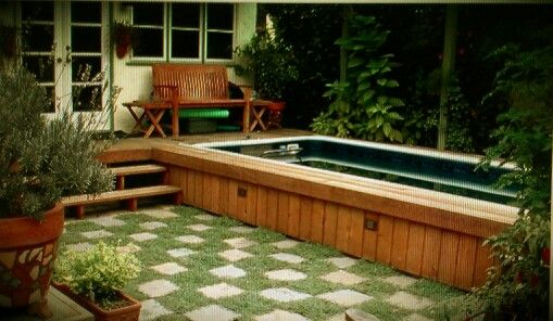 Built in above ground pool