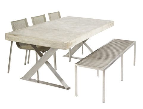 Lyn Cross Leg Concrete Dining Table - Complete Pad ®