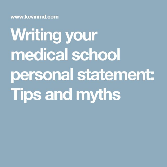 writing the perfect medical personal statement A personal statement is generally the first thing included in your cv, and is a brief personal summary given to prospective employers to help you stand apart from the competition you will also need a personal statement for university applications.
