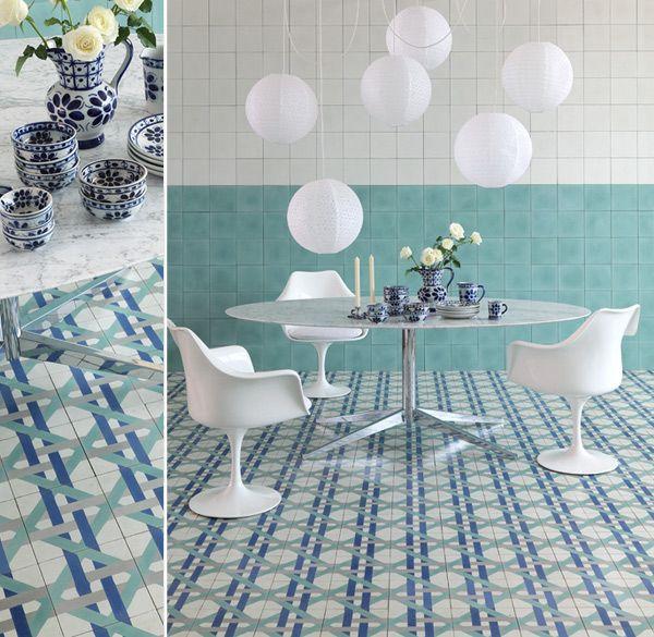 blue wall tile #decor #ladrilho