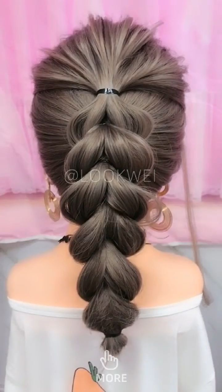 Hair style suitable for short and long hair