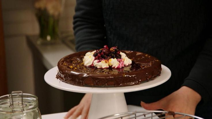 Video: Donkere chocolade cheesecake met bosbessen