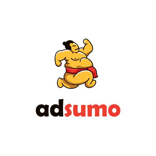 Large (heavy) web advertising, with great speed. Sumo wrestler in run