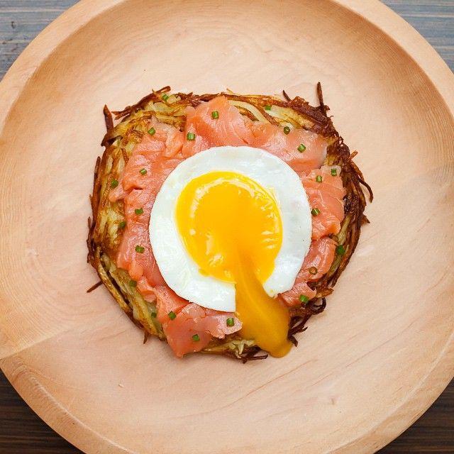 Rosti, Smoked Salmon, Egg