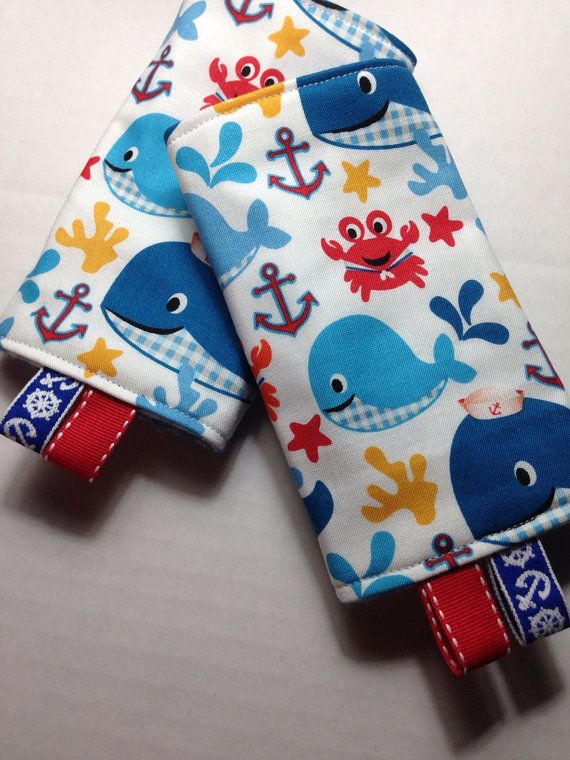 Baby carrier drool pads Crabby Abby Whales by zenia on Etsy, $17.00