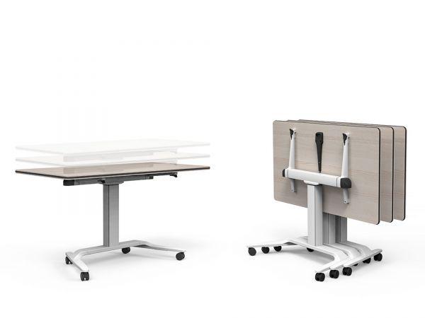 Talent 500 Von Actiu Ist Ein Rollbarer Und Hohenverstellbarer Klapptisch Optimal Als Schreibtisch Und Seminartisch Hochwertige Mobeldesign Mobelideen Tisch