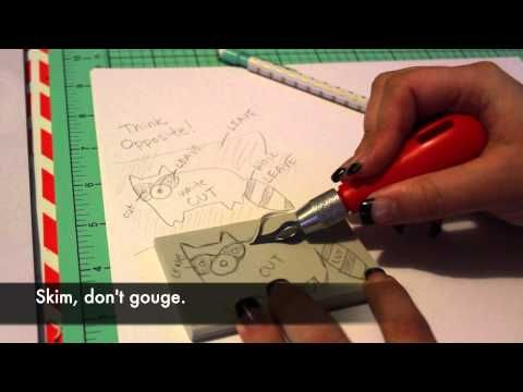 Rubber Stamp Carving Part 6 by Paul Hopkinson The Devon Artist - YouTube
