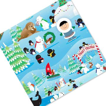 This #Frosty Friends wrapping paper is a #Hallmark favourite! It's sure to add a touch of holiday fun to your Christmas presents. http://bit.ly/2g5xRpd