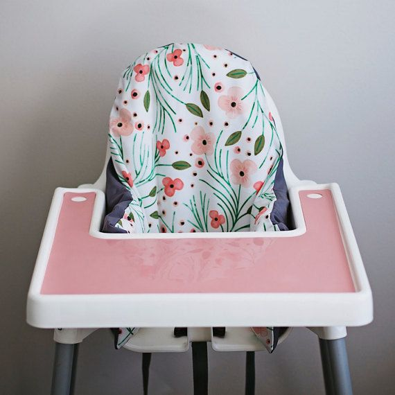 Winter Floral IKEA highchair cushion cover - finally I don't have to use the IKEA red and blue stripe one!