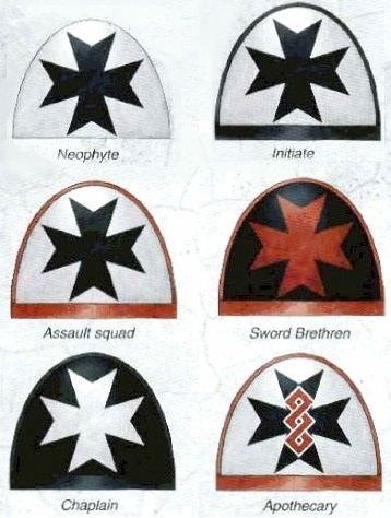 black templars shoulder insignia