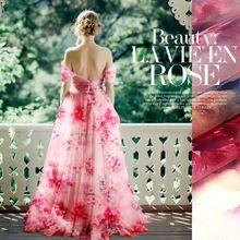 135 cm szerokości 8mm pink floral stiff tkanina jedwabna organza dla sukienka koszula ubranie spodnie D057(China (Mainland))