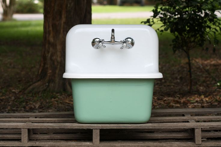 Refinished Arsenic Green Dead Stock Cast Iron Porcelain