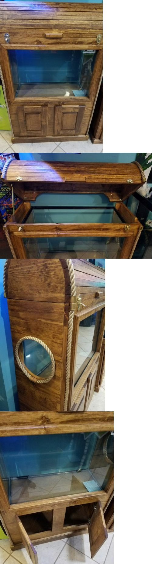 Aquariums and Tanks 20755: 40 Gallon Treasure Chest Aquarium And Stand BUY IT NOW ONLY: $440.0