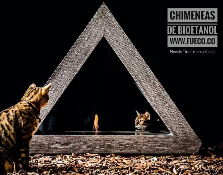 """Modelo """"Tres"""" con quemador de bioetanol marca #fueco.  #diseño, #fueco, #chimeneas, #quemadores, #hogar, #frio, #bioetanol, #ecologicas"""