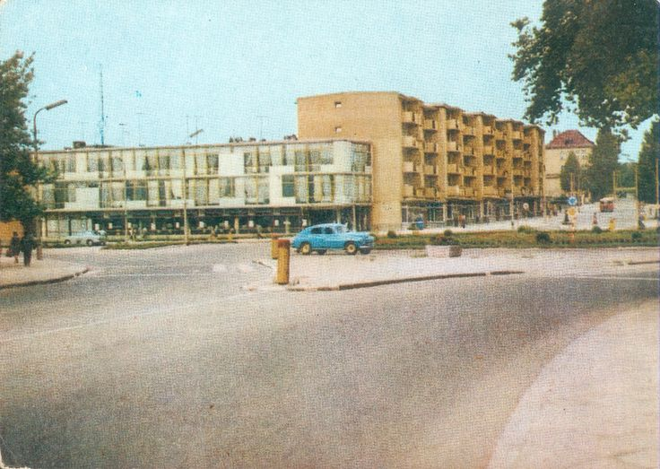 Białystok '70s Aleja 1 Maja/Aleja Piłsudskiego fot. T. Sumiński