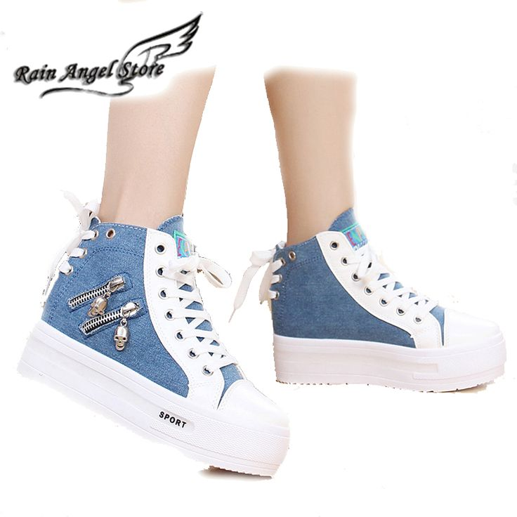 Spring And Summer Women High-Top Side Zipper Canvas Shoes Women's Platform Elevator Shoes Breathable Single Shoes Women Sneakers Nail That Deal http://nailthatdeal.com/products/spring-and-summer-women-high-top-side-zipper-canvas-shoes-womens-platform-elevator-shoes-breathable-single-shoes-women-sneakers/ #shopping #nailthatdeal