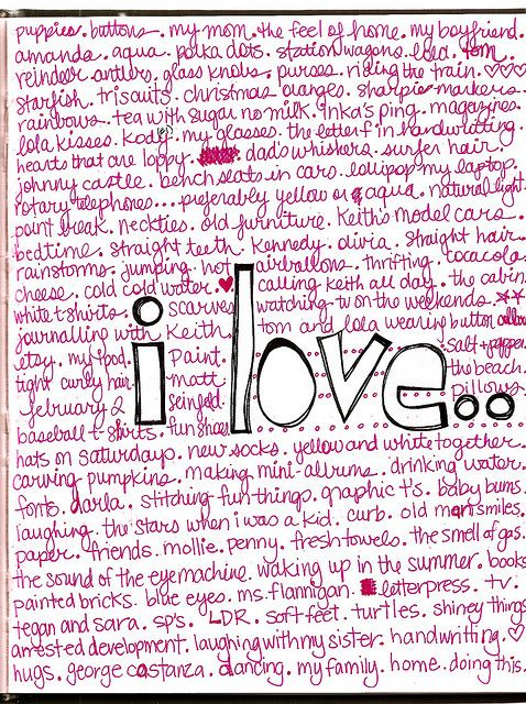 100 things you love