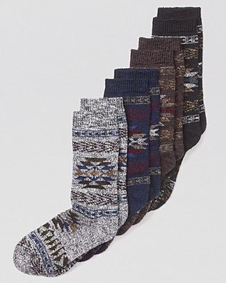 HUE Tribal Boot Socks...cute with bean boots