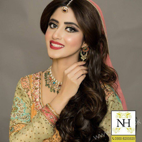 Sajal Ali Exclusive Bridal Look Nadia Hussain Salon