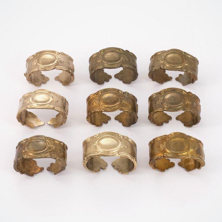 Литые латунные, антикварные кольца для салфеток. 24 шт. | Bonrenom