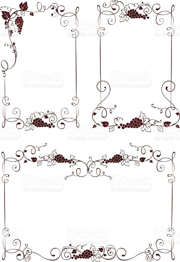 Винтажные элементы дизайна для вина — кадры Сток Вектор Стоковая фотография