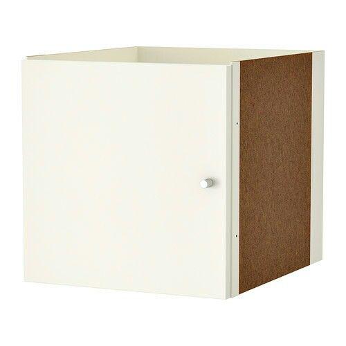 Hvit KALLAX innsats med dør (Til IKEA-hylle)