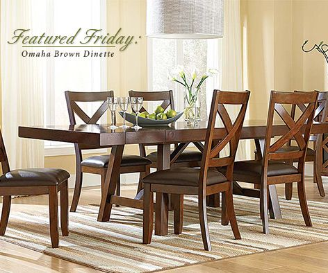 The Omaha Brown 6 Piece Dinette Set Will Help Get Your Family Back Into Swing Of To School Time With Room For Homework And Dinners