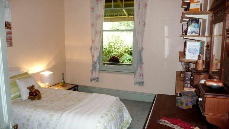 Guest bedroom after staging