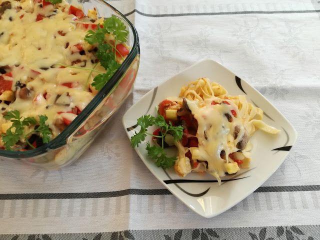 Kulinarna Chwila Makaron Z Kurczakiem Oraz Warzywami Food Vegetables Cauliflower