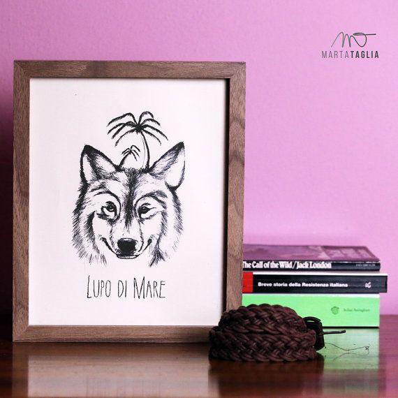 Guarda questo articolo nel mio negozio Etsy https://www.etsy.com/it/listing/268153331/lupo-di-mare-illustrazione-digitale-per