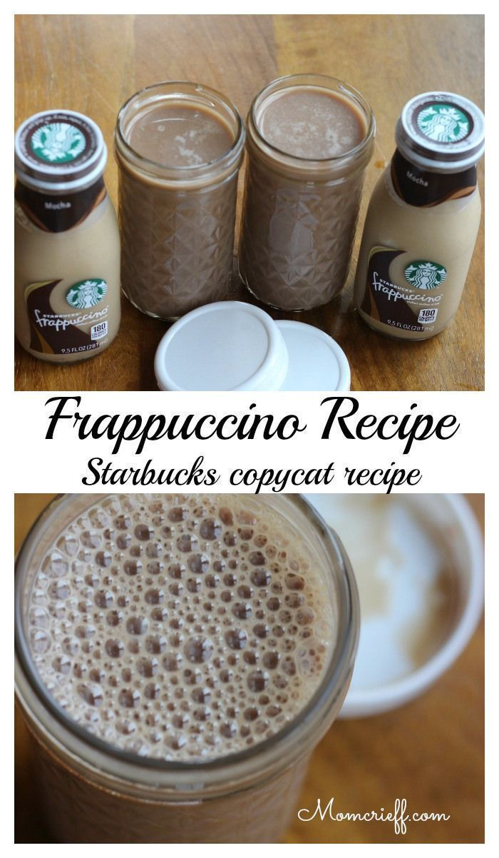 My Frappuccino recipe - Starbucks copycat. My two teen boys and their friends love these! Saves a ton of money by making them myself. - Momcrieff