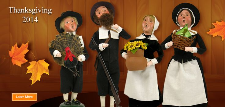 Pilgrim family from Byers'  Choice Ltd.