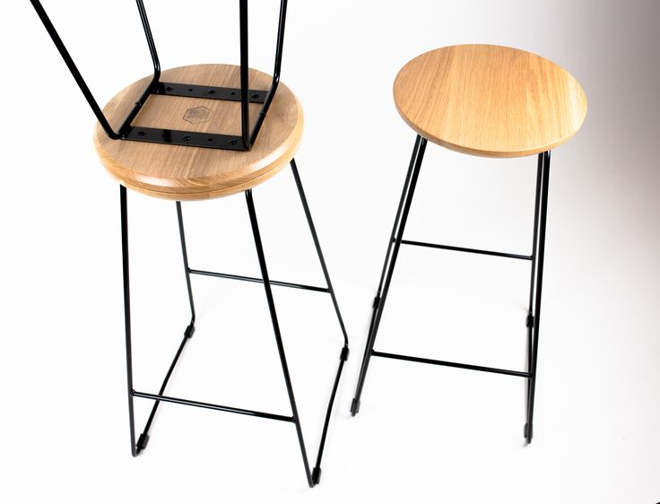 HS750 American oak and black steel bar stool.  www.huntfurniture.com.au
