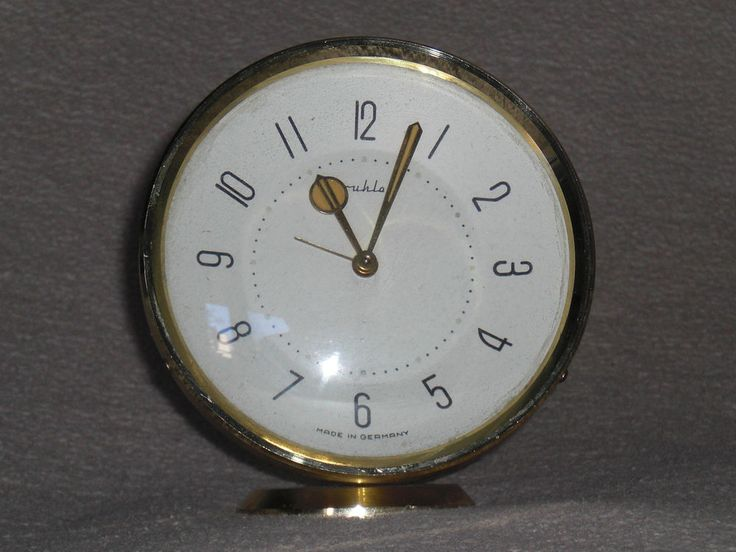Tischuhr RUHLA Wecker Retro design table alarm clock 50er