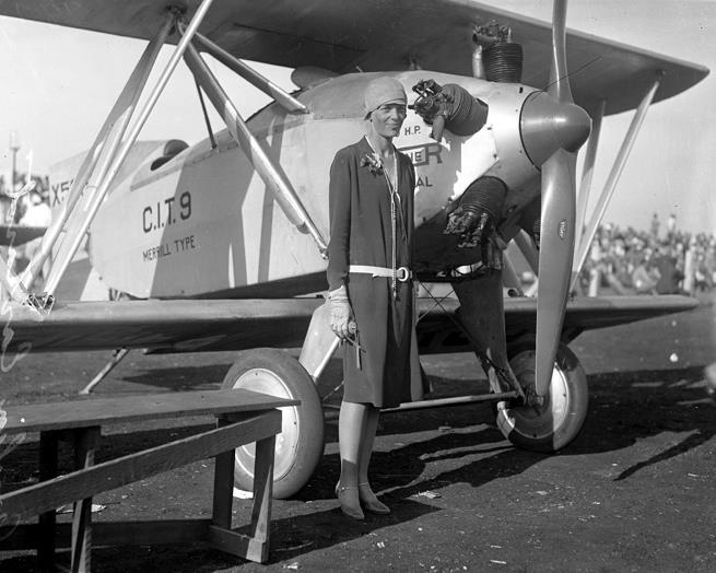 Amelia Earhart, aviation pioneer and the 1st woman to fly solo across the Atlantic Ocean.