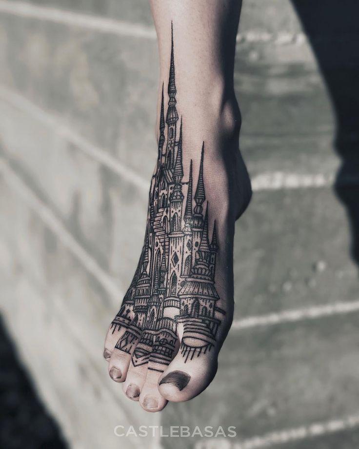 castles foot tattoo by @castlebasas