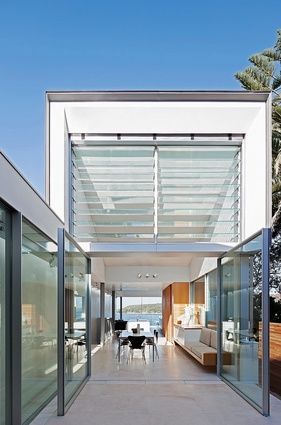 Huge Vitrocsa Pivot Doors - Fairlight, Australia Marston Architects Katherine Lu Photography