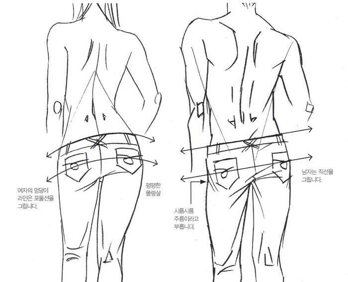 남자 엉덩이 그리는 법 02
