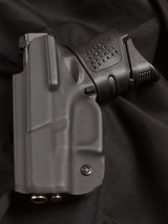 Funda de KYDEX Glock 26 27 33 y 39 negro IWB mano