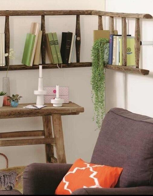 IDEAS & INSPIRATIONS: Ladder Shelves - Ladder Decorations Ideas