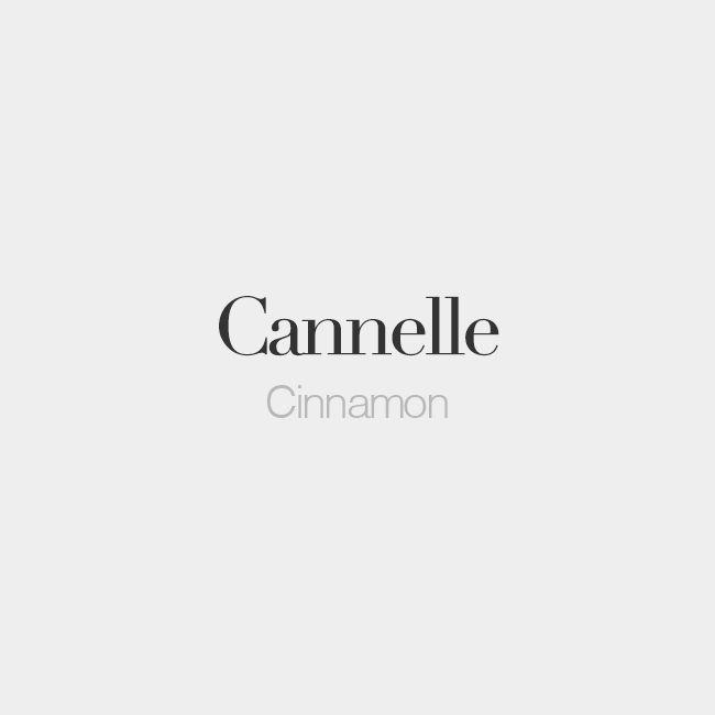 Cannelle (feminine word)   Cinnamon   /ka.nɛl/