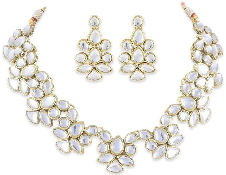 Amazing Wedding Bridal Kundan Bollywood Designer Indian Women Jewelry Set #natural_gems15