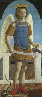 Saint Michael, completed 1469, Piero della Francesca