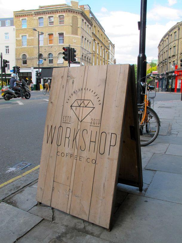 workshop coffee sign-board