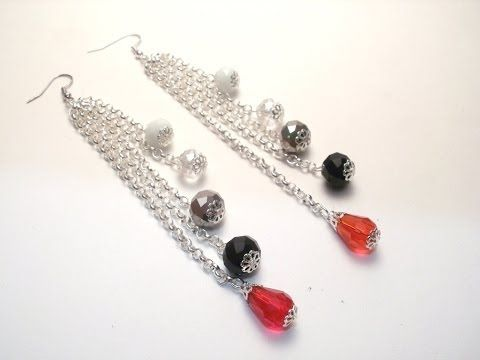 Tutorial orecchini per capodanno | Orecchini fai da te per principianti | Earrings for New Year - YouTube