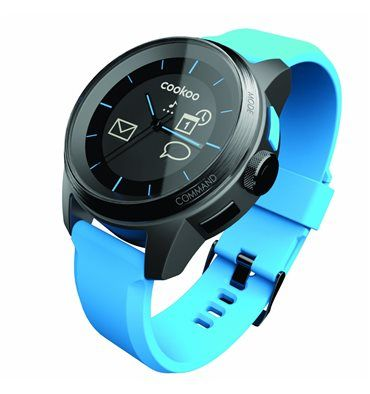 COOKOO WATCH BLUE AND BLACK